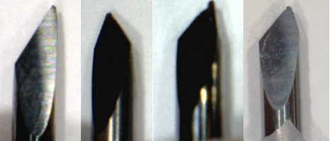 Chipped die cutting blades