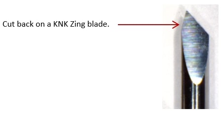 Cut back on KNK blade