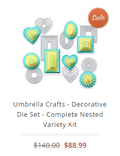 Umbrella Crafts - Decorative Die Set - Complete Nested Variety Kit