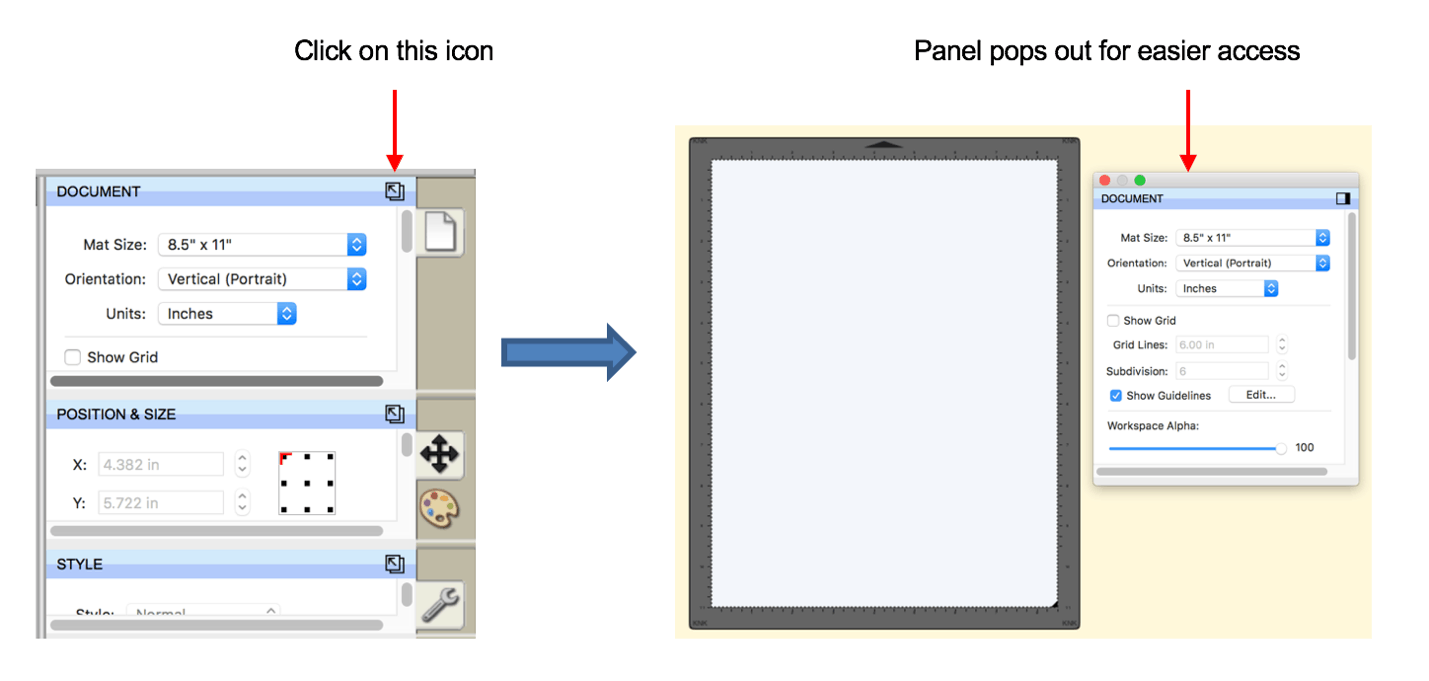 SCAL5 pop-out panels