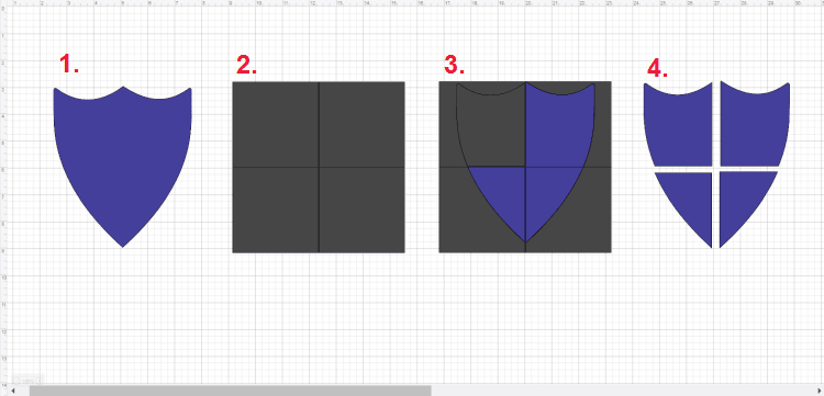 Cut Shape Into Multiple Pieces in Design Space