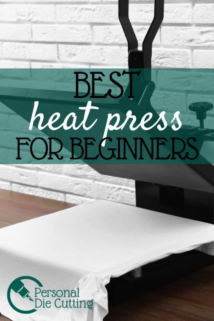 Heat transfer vinyl or HTV is a popular material for Cricut and Silhouette but properly applying it to your t-shirt, mug, or hat with an iron can be difficult. Buying a heat press will help you create professional and long lasting designs especially if you are starting a t-shirt business. Learn what the best heat press is for a beginner and what affordable options are available besides the Cricut Easy Press.