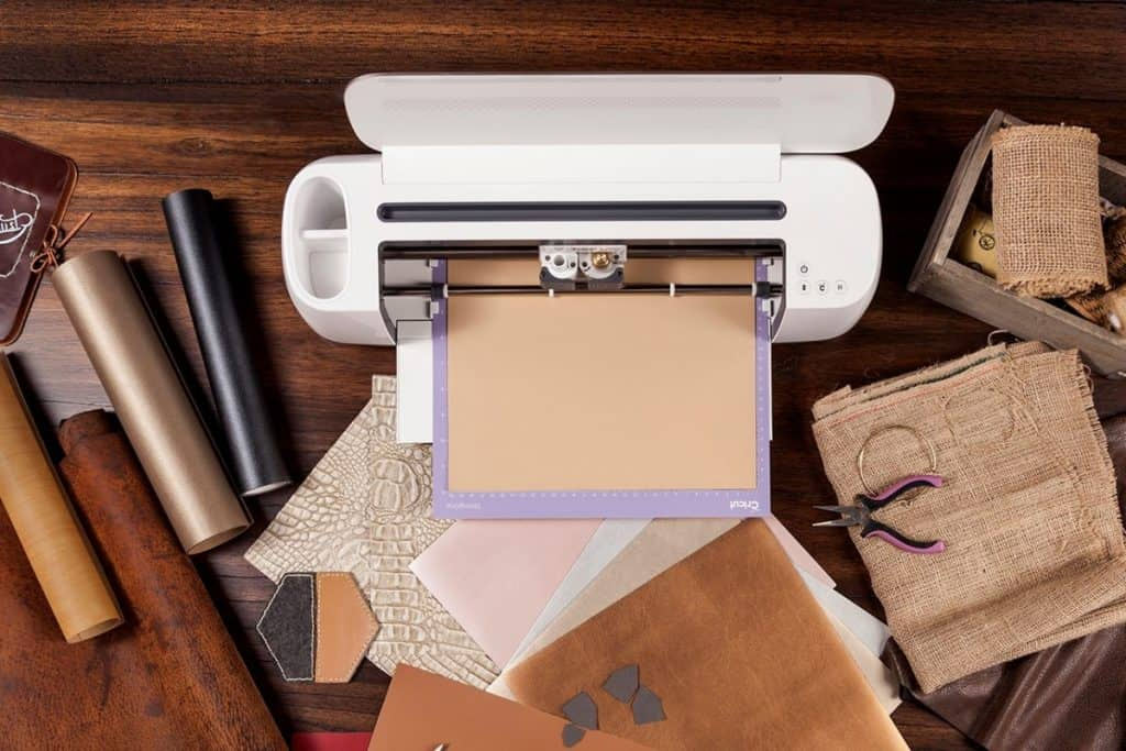cricut maker with strong grip mat cutting leather